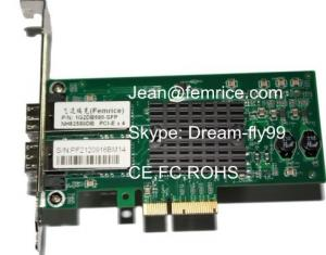 China PCI ExpressX4 Dual SFP Gigabit Nic Cards , Intel82580DB Chipset controllers on sale