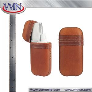 China IQOS Electronic cigarettes pouch real leather full cover storage case hot current IQOS models cover supplier