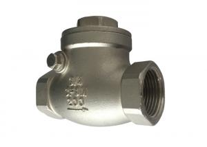 China 1 Inch 200 Psi Stainless Steel Check Valve Npt / Bsp / Bspt Threaded on sale