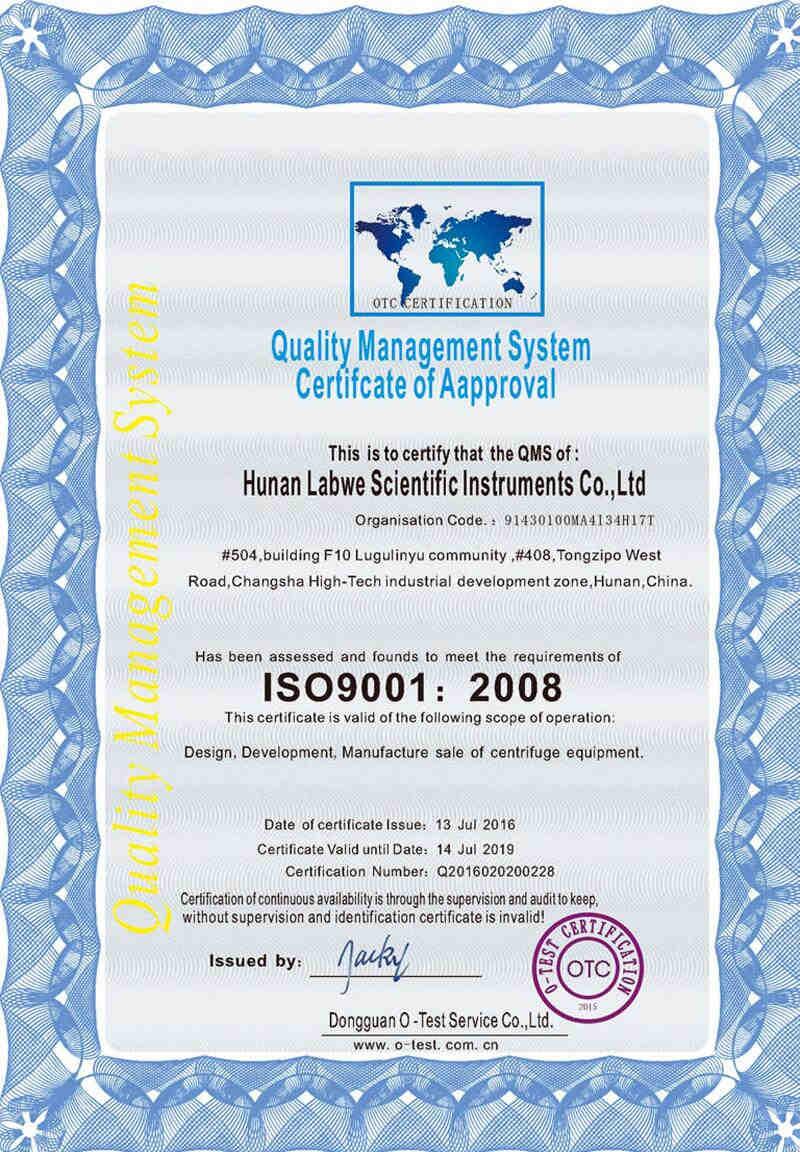 Hunan Labwe Scientific Instruments Coltd Quality