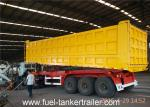 China Tri Axles Side dumper trailer truck with 10 / 10 / 10 Heavy duty leaf spring suspension wholesale