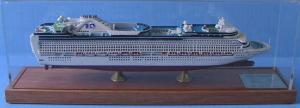 China Caribbean Princess Cruise Wooden Tall Ship Models For School Library Decoration on sale