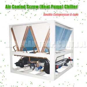 China Double Compressors Heat Pump Chiller Air Cooled 188kw DN80 Interface Size on sale