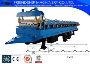 China 45# Steel Ibr Sheet Roll Forming Machine With Hydraulic Cutting System on sale