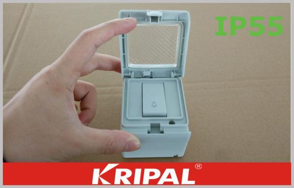 Ip55 Waterproof Door Bell Switch Outdoor Weatherproof Switch Socket