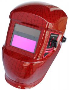 China Electronic LED Auto Darkening Welding Helmet Red Adjustable With High-Definition Visual on sale