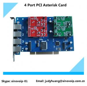 China TDM410P 4 Port fxs/fxo PCI Asterisk Card, Analog Card same as digium card on sale