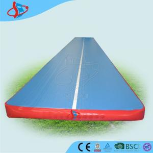 China Customized inflatable trampoline tumble track for gymnasium OEM / ODM on sale