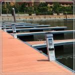 Floating Pontoon Aluminum Structure Boat Floating Platform Bridge Modular Marina Dock For Jetty
