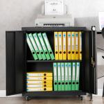 Black Shelf Folding Storage Cabinet Removable Fold Steel Storage Cabinet