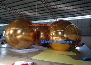 China Golden 2.5m Inflatable Mirror Ball Floating Sliver Disco Balloon For Events on sale
