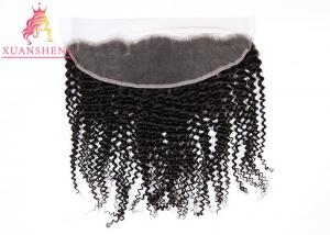 China Ear To Ear 13x4 Lace Frontal  Lace Human Hair , Brazilian Deep Curly Virgin Hair on sale