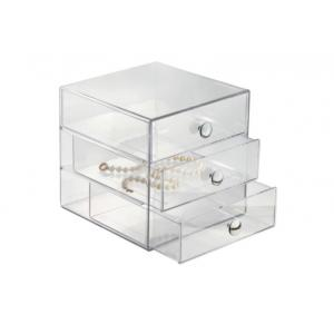 China 3 Layer Home Acrylic Clear Drawer Organizer For Makeup Storage on sale