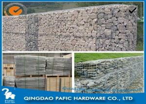 China Galvanized / PVC Coated Steel Gabion Baskets / Wire Gabion Mesh Container on sale