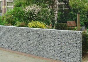 China Heavy Zinc Coated Galvanized Wall Basket Square Hole Shape For Gardens / Parks on sale