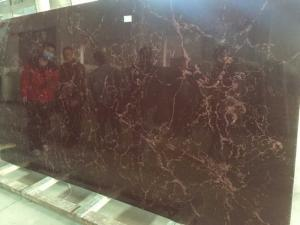 China Brown Artificial Quartz Stone Slab Polished / Honed Finished Surface on sale