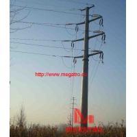 110KV double circuit angle tension pole (15°)