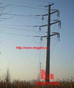 China 110KV double circuit angle tension pole (15°) on sale