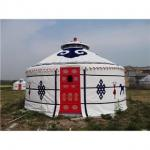 China 2 - 10m Diameter Mongolian Round Tent / Yurt Style House With Steel Structure wholesale