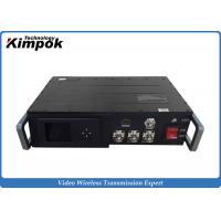 China Powerful Vehicle HD Wireless Transmitter , COFDM Audio Video Transmitter 300-4400Mhz on sale