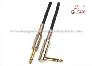 China Audio PA Systems Guitar Instrument Cable With Nickel Connector PVC Jacket Material on sale