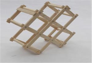 China Eco - Friendly Wooden Wine Storage Rack Shelf Foldable Small Storage Shelves Racks on sale