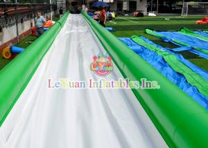 China Crazy Inflatable Slip N Slide With PVC Tarpaulin Safe Zipper Flaps on sale