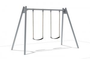 China Metal Outdoor Swing Sets , Outdoor Swings For Children Safety Performance on sale