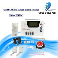 China LCD GSM &PSTN Dual Network Home Security System House Alarm w/ SIM Auto Dialer 6 Zone on sale
