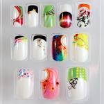 Акриловые украшенные поддельные ногти наклоняют полное покрытие для женщин, ногтей ДИИ поддельных