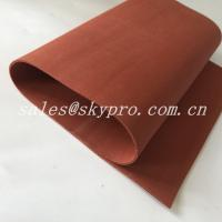 China Red / Transparent Soft Flexible Silicone Rubber Foam Sheet Thickness 0.1-30mm on sale