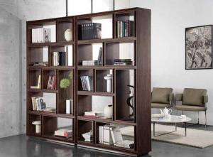 China Black Walnut Wooden Book Case 5 Shelf Living Room Tall Solid Wood Bookcases on sale
