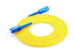China Single Mode Fiber Optic Patch Cord Sc Sc , Fiber Optic Jumper Yellow Color on sale