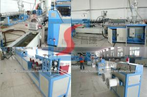 China Single Screw Or Twin Screw Plastic Extrusion Line , PP Strap Band Making Machines on sale