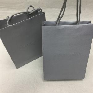 China Silver Foil Custom Printed Paper Bags , Luxury Paper Shopping Bags With Handles on sale