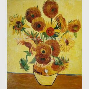 China Contemporary Sunflower Floral Oil Painting On Canvas Van Gogh Masterpiece Replicas on sale