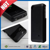 Black Cellular Phone External Backup Battery Charger Case 3200mah For iphone 4 4G 4S
