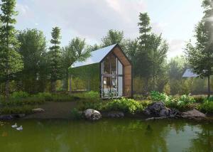 China Unique Style Prefab Loft Homes , Modern Prefab Houses Villa With Smart Lock on sale