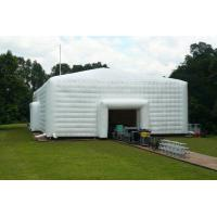 2014 large white inflatable party event marquee tent with window and tunnel entrance3