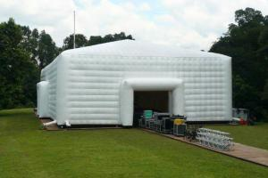China 2014 large white inflatable party event marquee tent with window and tunnel entrance3 on sale