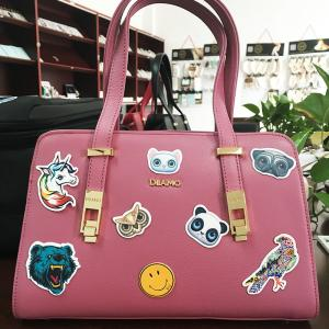 China Removable Embossed Pu Leather Luggage Bags Labels / Tags / Stickers Patches on sale