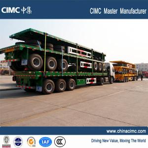 China 40 foot 20ft shipping container flatbed trailers for sale - CIMC Vehicle on sale