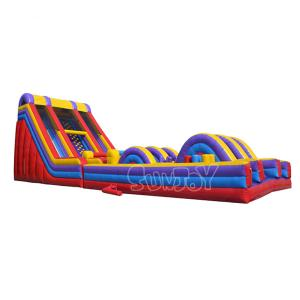 China Tarpaulin Inflatable Obstacle Course Extreme Rush Obstacle Races Slide on sale