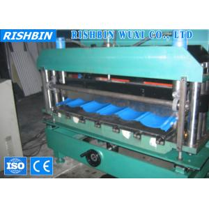 China Color Steel Roof Tile Roll Forming Machine  , Chain Transmission Roll Former Machine on sale