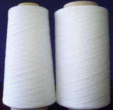 China 1.2D × 38mm Non knot recycled sewing Polyester spun yarn ne 20 / 2 30 / 2 40 / 2 50 / 2 on sale