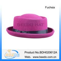 Vintage fuchsia wool felt pork pie hats uk