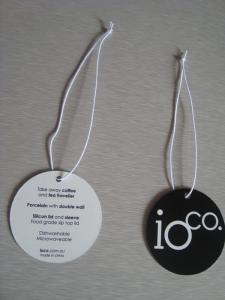 China custom luxury jewelry paper hang tag with elastic string artwork printing factory on sale