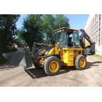 Low Noise Tractor with Bucket and Backhoe Wing Spread Support Leg 0.3M3 Digger capacity