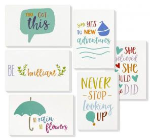 China 6 Types Unique Holiday Cards / Inspiring Motivational Cards With Envelopes on sale