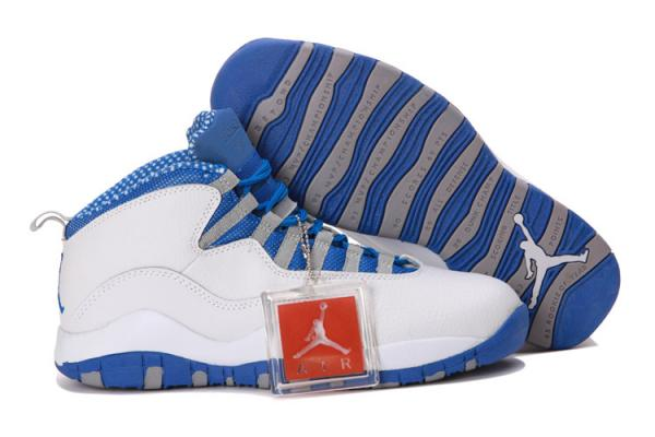 Nike aèrent la Jordanie 10 rétros chaussures grises 666 de
